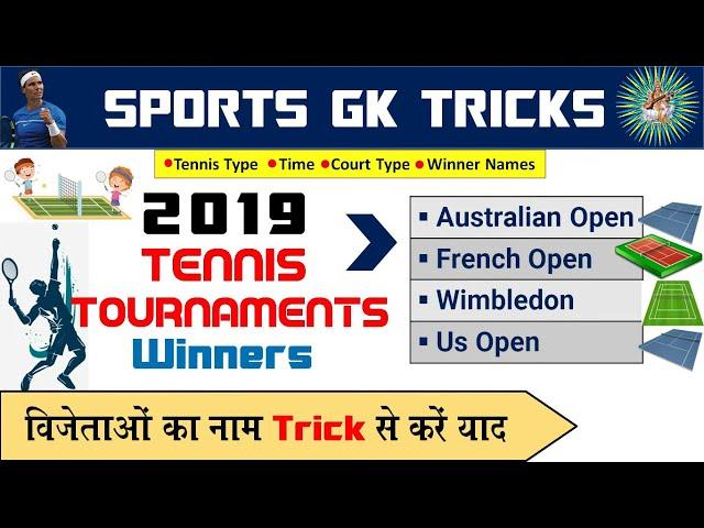 Current Gk Tricks : Grand Slam Tennis Tournament 2019 Winners Tricks | study corner
