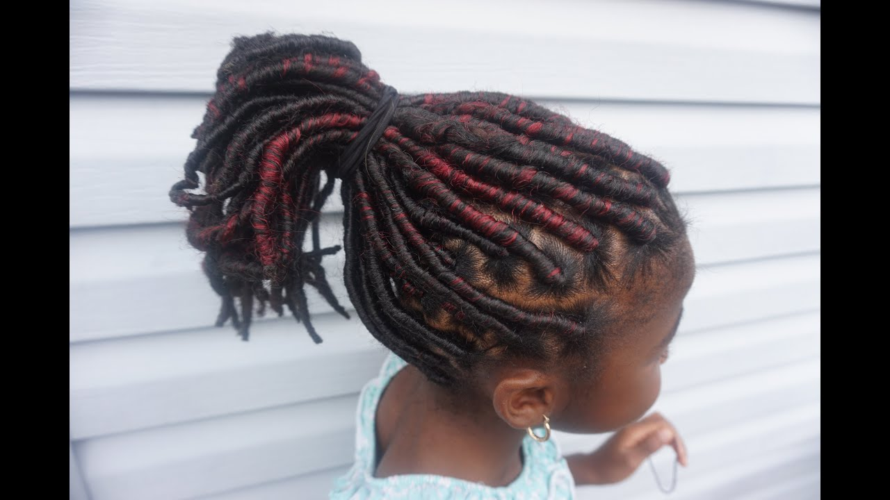 Faux Locs Tutorial For Kids Youtube