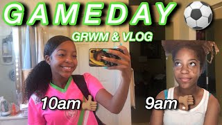 GRWM: GAMEDAY + VLOG⚽�