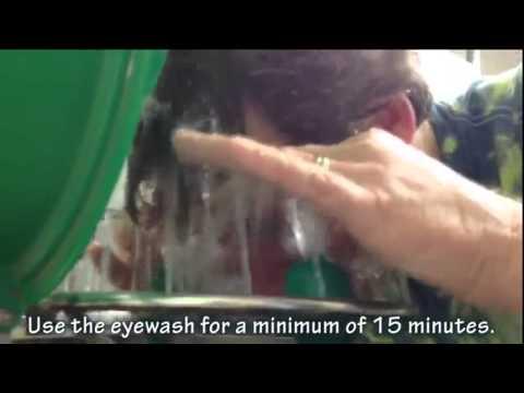 How To Use An Emergency Eyewash Shower