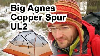 Обзор палатки Big Agnes Copper Spur UL2 в зимнем походе