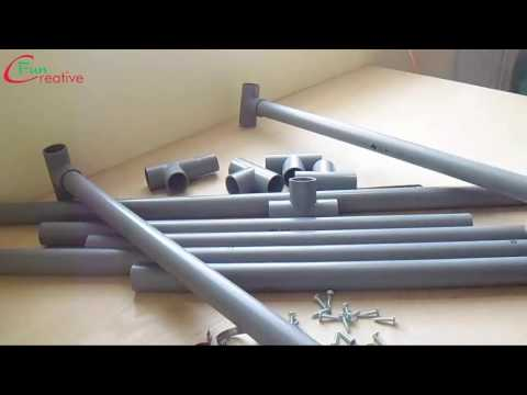 How to make a table at home with plastic pipes   DIY table