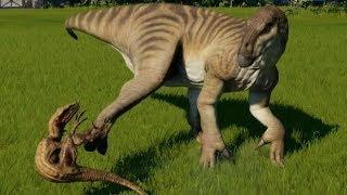 Iguanodon vs Spinoraptor, Velociraptor, Carnotaurus, Allosaurus, Dilo, Deino, Bary, Sucho & Metria