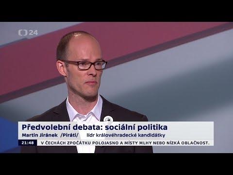 4. předvolební debata 2017 - Martin Jiránek (sestřih vystoupení)