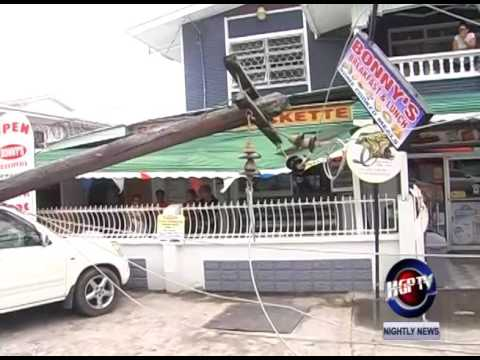UTILITY POLES DAMAGES  CHRUCH & EAST STREET BUSINESSES