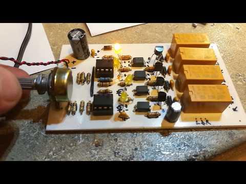 Audio 4ch Input Selektor - Circuit & Pcb