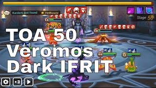 TOA 50 Veromos and Perna Stage - Summoners War Gameplay Hard Mode