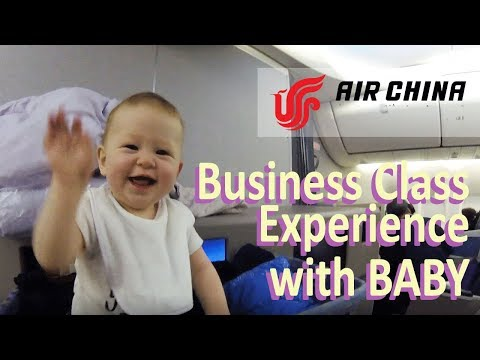 AIR CHINA Business Class Experience JFK → Beijing with the BABY Airplane with the Baby