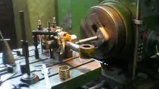 Horizontal Boring Machine Turning Shaft On Hydraulic Cylinder Part1