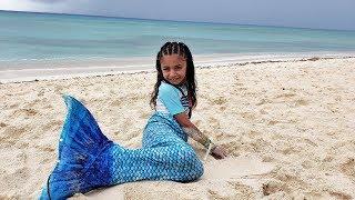 Family Fun Day at the Beach - Heidi Becomes A Mermaid