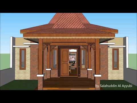 Model Teras Rumah Joglo Sederhana  desain rumah joglo minimalis youtube