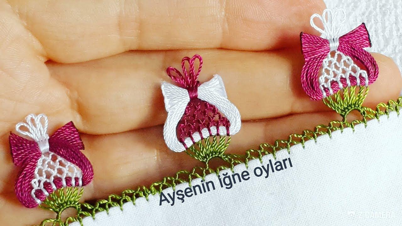 Osmanlı Lale Motifi İğne Oyası Modeli