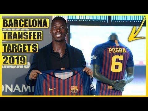 BARCELONA Transfer News : Top 5 January Transfer Targets 2019 ft Pogba & Neymar
