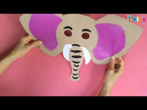 Animals mask for kids | How to make a elephant mask | How to draw halloween | Art for kids