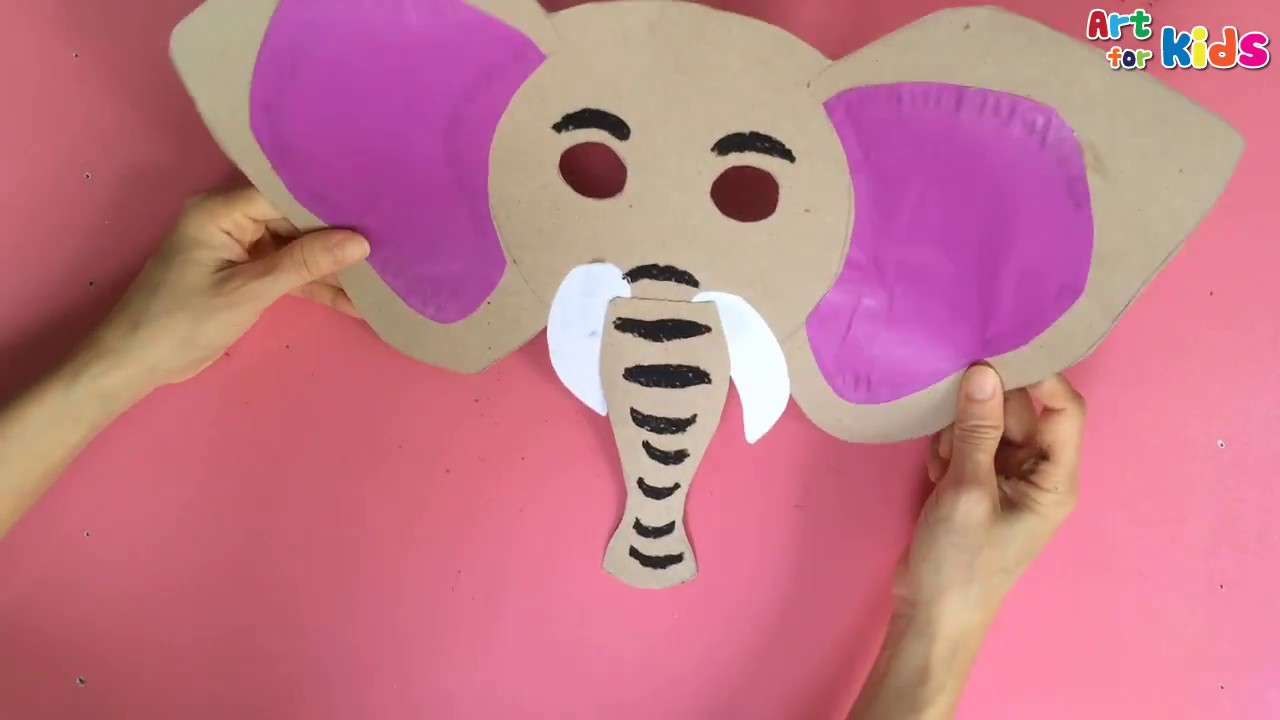 Animals Mask For Kids How To Make A Elephant Mask How To Draw