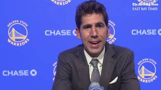 Warriors GM Bob Myers on Wiseman pick and Thompson's injury