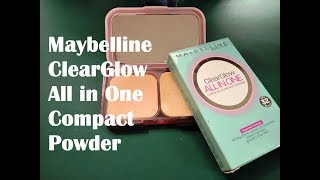 Maybelline ClearGlow All in One Compact Powder Review 03 Natural Shade