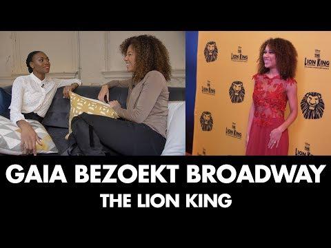 Gaia in New York voor 20 jarig jubileum op Broadway | The Lion King