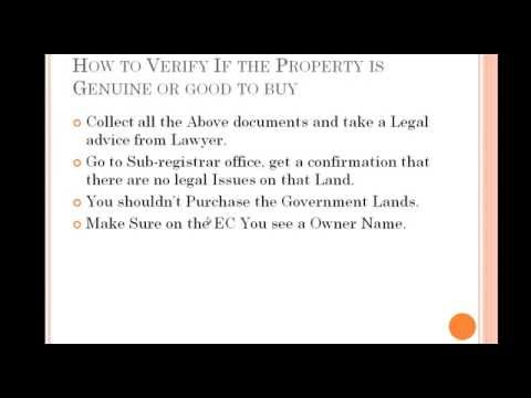Procedure To Buy a Land In India - Short Video