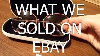 What we sold on ebay - Dog Bottle Opener, Candle Holder, Toy Trains, Sunglasses - Dorky Thrifters
