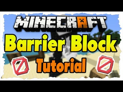 MINECRAFT 1.8 Tutorial  BarrierBlock Unsichtbare Barriere