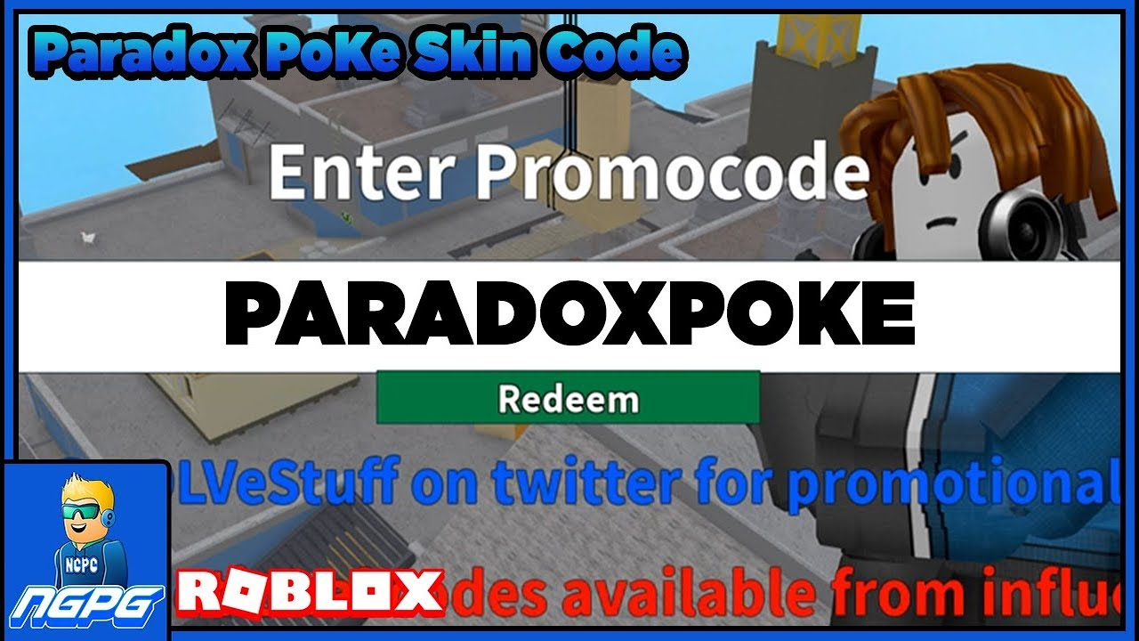 roblox arsenal paradox poke skin code