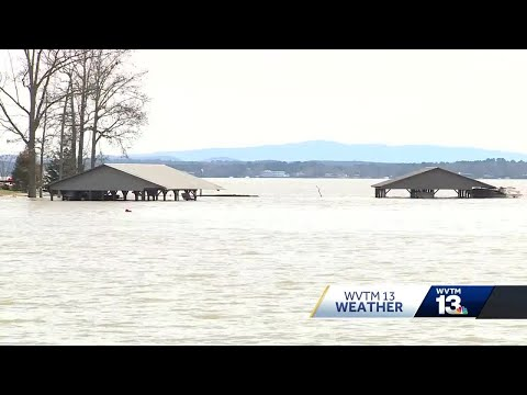 Flooding Near Weiss Lake In Cherokee County