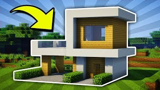 Minecraft : Small Modern House Tutorial [#11] (PC/XboxOne/PS4/PE/Xbox360/PS3)