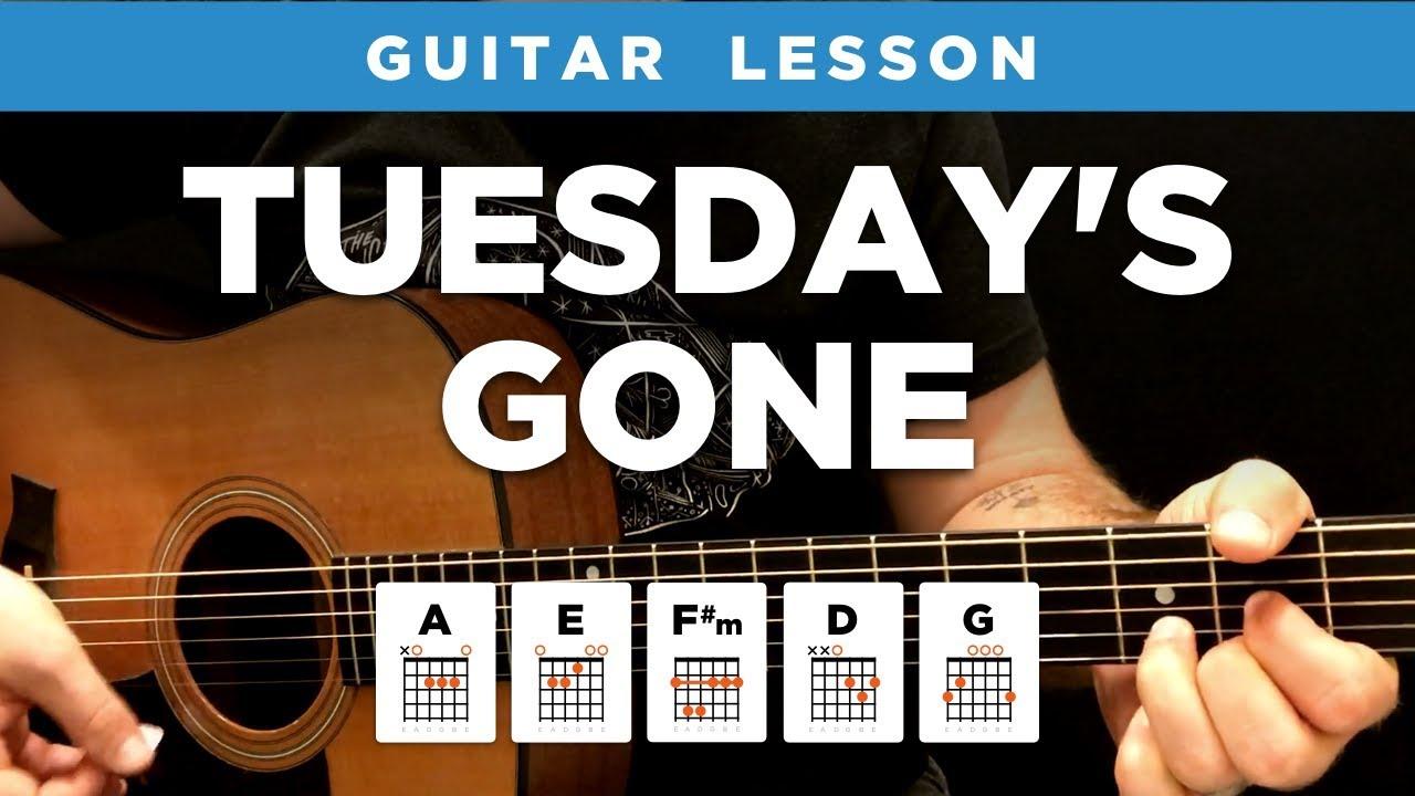 Tuesdays Gone Acoustic Guitar Lesson W Chords Lynyrd Skynyrd