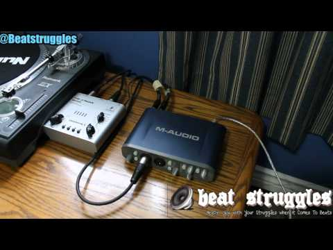 Audio Interface M-Audio Fast Track Pro Set Up