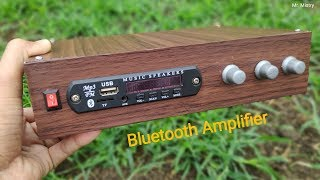 Amplifier - Make Bluetooth, USB and FM Amplifier at home