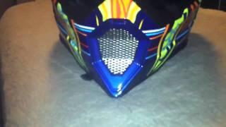 agv ax8 5 continents rossi dirt bike helmet unboxing review
