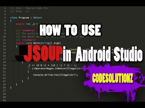 How to use Jsoup /or External Jar in Android Studio