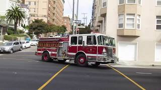 San Francisco Fire Department @ Octavia St & Pine St San Francisco California
