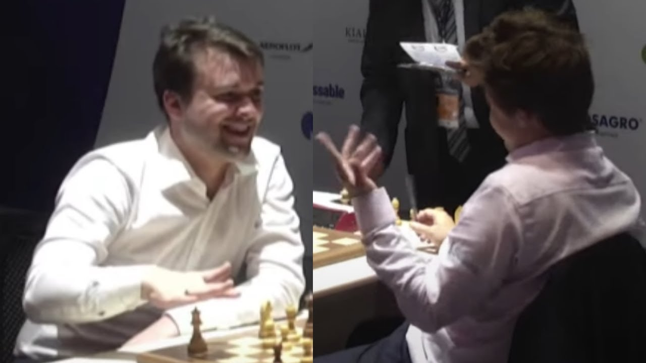 Magnus Carlsen Starts Laughing While Discussing a Game After GM Fedoseev Stops the Clock and Resigns