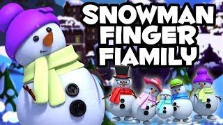 Снеговики палец семья рождественские колядки Snowman Finger Family Christmas Jingles