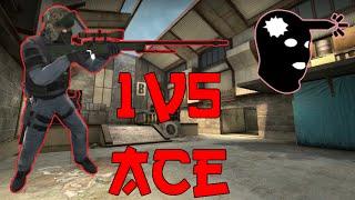 CS:GO: 1v5 AWP Ace Clutch on Cache