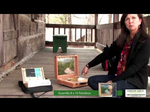 Plein Air Oil Painting With Kim Abernethy -  Guerrilla Paintbox And Thumbox
