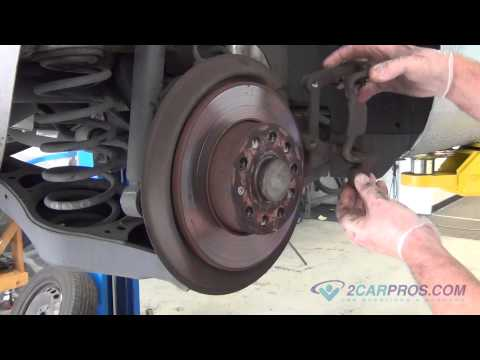 Rear Brake Pads & Brake Rotor Replacement Volkswagen Jetta 2005-2010