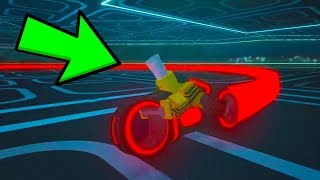 PLAYING WITH THE JAILBREAK TRON BIKES EARLY! (Roblox)
