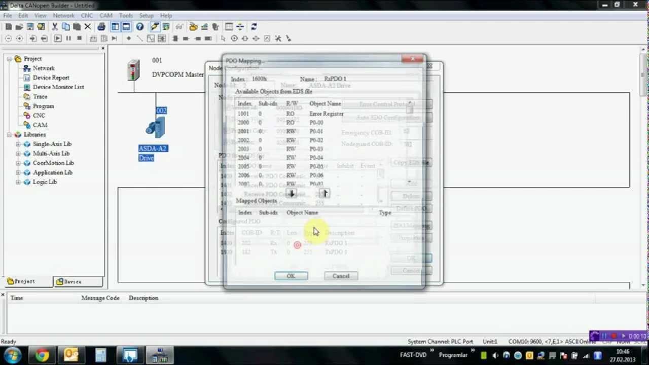DELTA PLC - ASDA-A2 Servo CANopen Haberleşme Konfigürasyonu