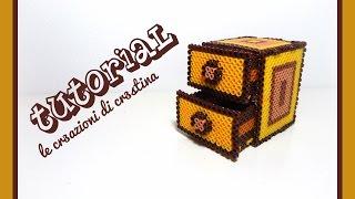 Tutorial Mobiletto/Cassettiera 3D con Hama Beads MIDI - www.perlinedastirare.it