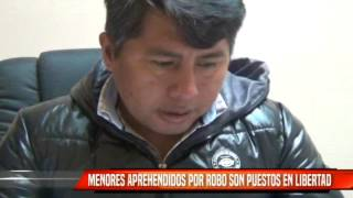 MENORES APREHENDIDOS POR ROBO SON PUESTOS EN LIBERTAD