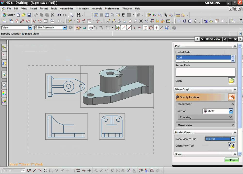 Unigraphics NX Drafting training tutorial