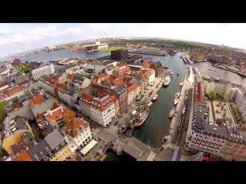 copenhagen nyhavn gopro hd 1080 p FPV civil drone dji phantom