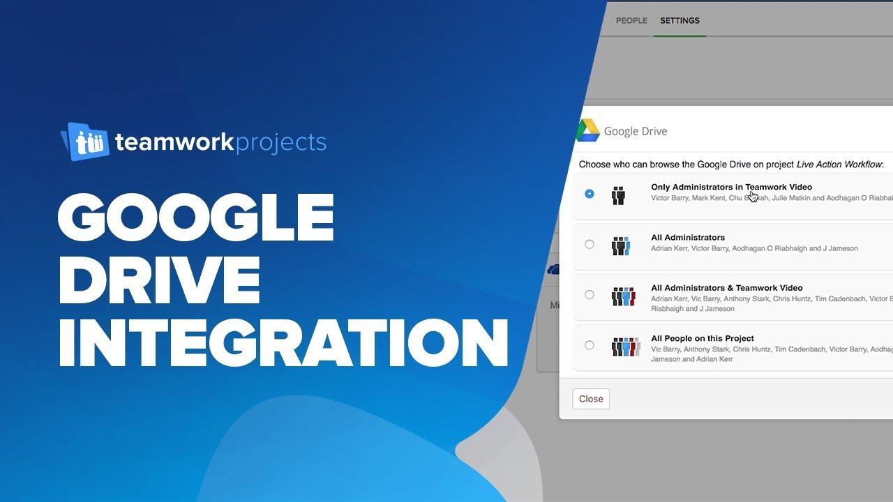 teamwork projects google drive integration youtube