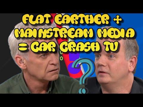 Flat Earther + Mainstream Media = Car Crash TV thumbnail