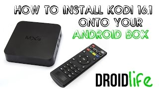 How to install Kodi 16.1 onto your Android BOX (MXQ, MXQ PRO, M8S, CS918)