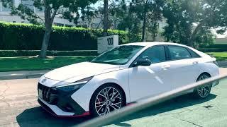 Hyundai Elantra N 2022 Spotted on the road.  Новая спортивная Хендай Элантра