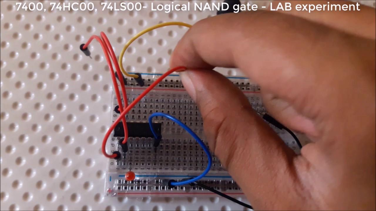 Ic7400 74hc00 74ls00 Logical Nand Gate Lab Experiment With Full Internal Diagram Of 555 Timer Explanation Dld 2
